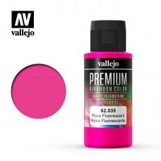 Acrylic Vallejo: Premium Color Акрил-полиуретановая краска Fluorescent Rose (Флуоресцентный Розовый). 62035