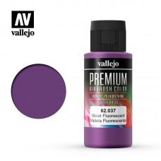 Acrylic Vallejo: Premium Color Акрил-полиуретановая краска Fluorescent Violet (Флуоресцентный Фиолетовый). 62037