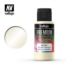 Acrylic Vallejo: Premium Color Акрил-полиуретановая добавка Metallic Medium (для придания краске металлизированного эффекта). 62041