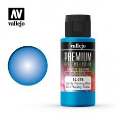 Acrylic Vallejo: Premium Color Акрил-полиуретановая краска Candy Rancing Blue (Карамельный Играюще-Синий). 62076