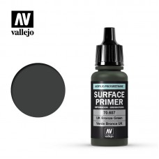 Acrylic Vallejo: Surface Primer Акриловая грунтовка UK Bronze Green (Британский Бронзовый Зелёный). 70607