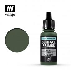 Acrylic Vallejo: Surface Primer Акриловая грунтовка NATO Green (НАТО Зелёный). 70612