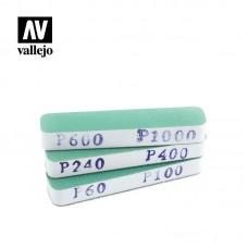 Acrylic Vallejo: Hobby Tools Набор Наждачек (3 штуки) (Flexi Sanders Dual-Grit (90x19x12 мм)). T04002