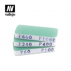Acrylic Vallejo: Hobby Tools Набор Наждачек (3 штуки) (Flexi Sanders Dual-Grit (80x30x12 мм)). T04004