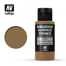 Acrylic Vallejo: Surface Primer Акриловая грунтовка German Green Brown (Немецкий Зелёно-Коричневый). 73606