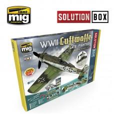 "Ammo by Mig Jimenez: ""Набор Решений"" для истредителей Luftwaffe Late WWII ""Solution Box"" (английская версия). AMIG7702"