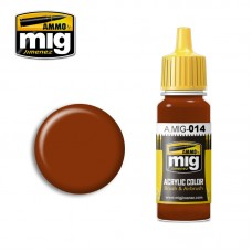 Ammo by Mig Jimenez: Акриловая краска Rotbraun RAL 8012 (Красно-коричневый). AMIG0014