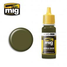 Ammo by Mig Jimenez: Акриловая краска Green IDF (Зеленый Израильских Сил Обороны). AMIG0068