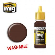 Ammo by Mig Jimenez: Акриловая краска Washable Mud (Смываемая грязь). AMIG0108