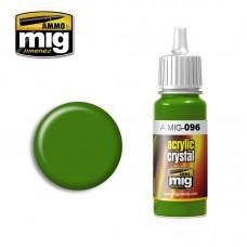 Ammo by Mig Jimenez: Акриловая краска Crystal Periscope Green (Кристальный перископный зеленый). AMIG0096