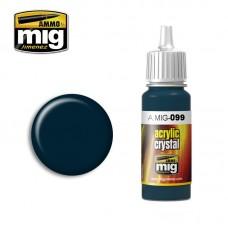 Ammo by Mig Jimenez: Акриловая краска Crystal Black Blue (Кристально темно-синий). AMIG0099