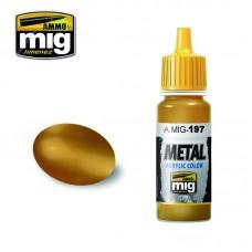 Ammo by Mig Jimenez: Акриловая краска Brass (Латунь). AMIG0197
