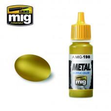 Ammo by Mig Jimenez: Акриловая краска Gold (Золото). AMIG0198