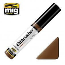 Ammo by Mig Jimenez: Earth Clay (Земляная глина) масляная краска с тонкой кистью аппликатором. AMIG3524