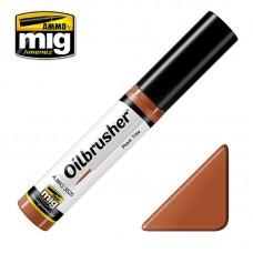Ammo by Mig Jimenez: Red Tile (Красная плитка) масляная краска с тонкой кистью аппликатором. AMIG3525
