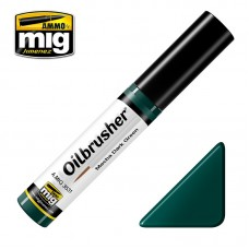 Ammo by Mig Jimenez: Mecha Dark Green (Темно-зеленый Mecha) масляная краска с тонкой кистью аппликатором. AMIG3531