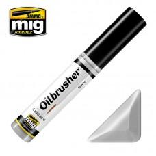 Ammo by Mig Jimenez: Silver (Серебро) масляная краска с тонкой кистью аппликатором. AMIG3538