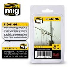Ammo by Mig Jimenez: Rigging Super Fine (Супер тонкая нить) 0,01мм. AMIG8016