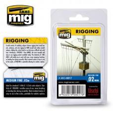 Ammo by Mig Jimenez: Rigging Super Fine (Супер тонкая нить) 0,02мм. AMIG8017