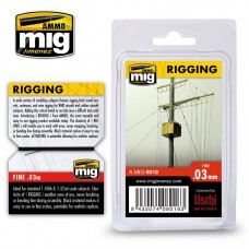 Ammo by Mig Jimenez: Rigging Super Fine (Супер тонкая нить) 0,03мм. AMIG8018