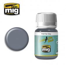 Ammo by Mig Jimenez: Panel Line Wash Tan Grey (Серая смывка для цвета RLM 65 серии PLW). AMIG1610