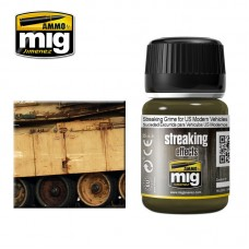 Ammo by Mig Jimenez: Streaking Grime for US Modern Vehicles (Потеки грязи для современной техники США). AMIG1207