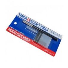Tamiya: Modellers Knife / Модельный Нож с 25 сменными лезвиями . 74040